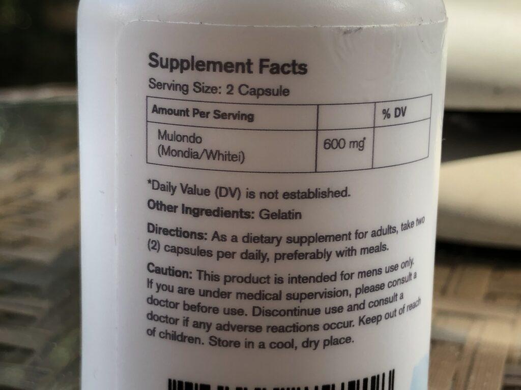 mulondo ingredient label