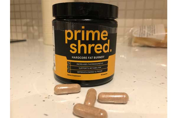 prime shred bottle and capsules